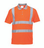 Port West Hi-Vis Short Sleeved Polo - SET OF TWO: Front View
