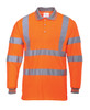 Portwest Hi-Vis Long Sleeved Polo - SET OF TWO: Front View Orange