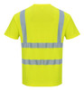 Portwest Hi-Vis T-Shirt - SET OF TWO-S478: Back View Yellow