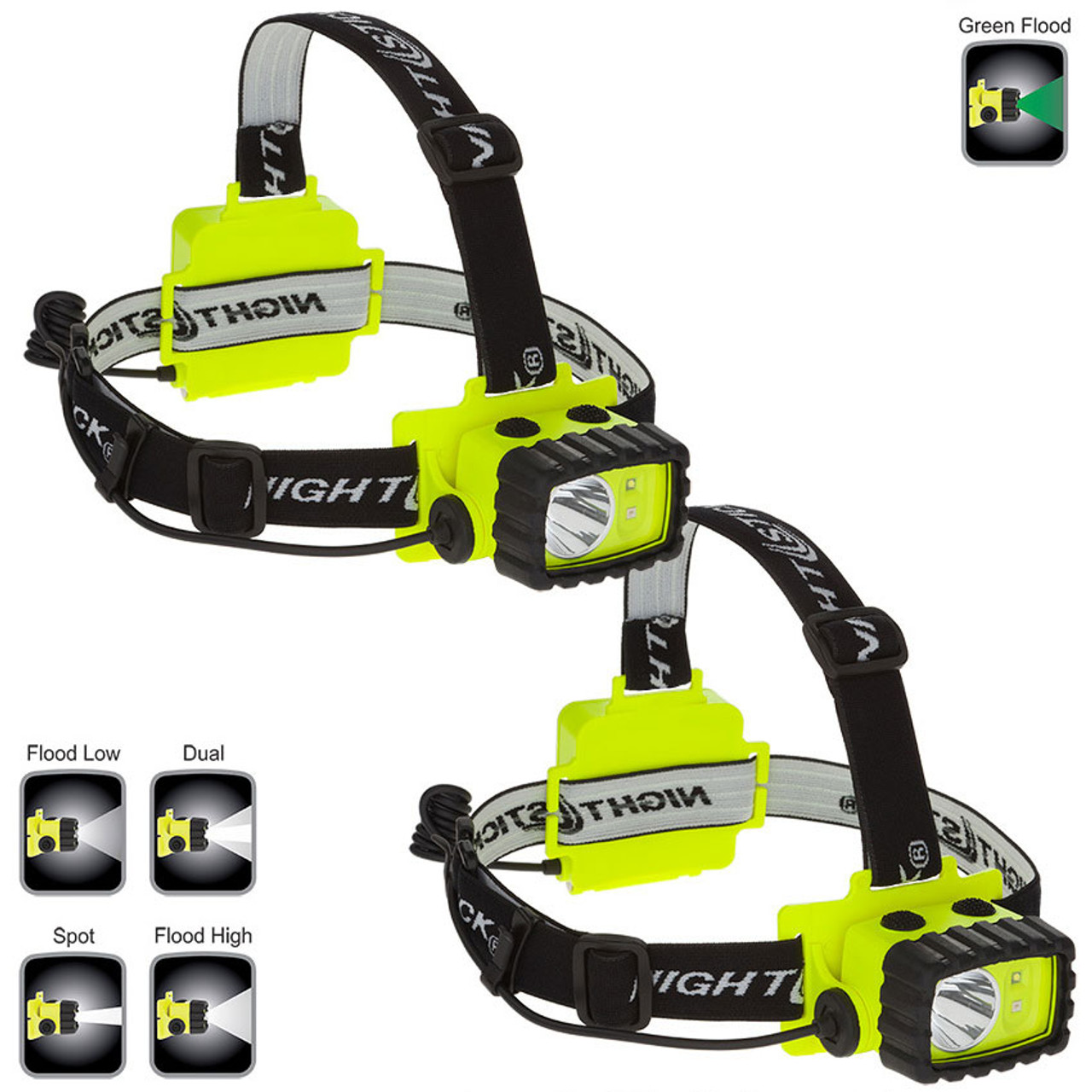 Green Nightstick XPP-5458G Intrinsically Safe Permissible Dual-Light Multi-Function Headlamp