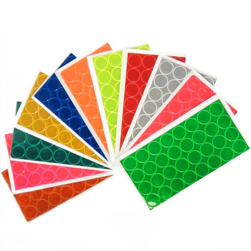 Reflective 1 Inch Adhesive Vinyl Hot Dots - 352 Dot Sampler Pack