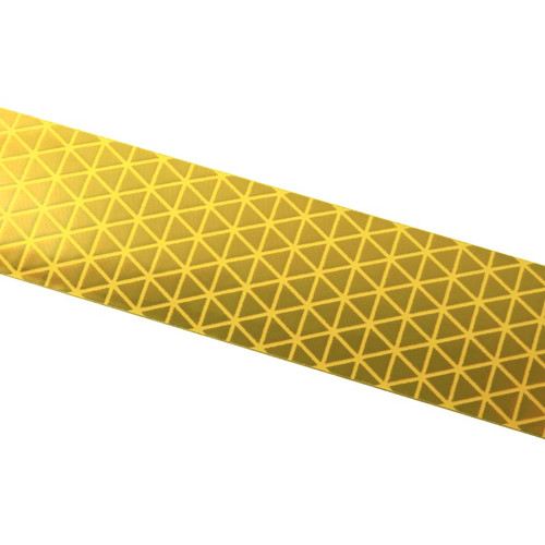 Yellow Reflexite V92 Daybright Conspicuity Tape 1x18 Strip