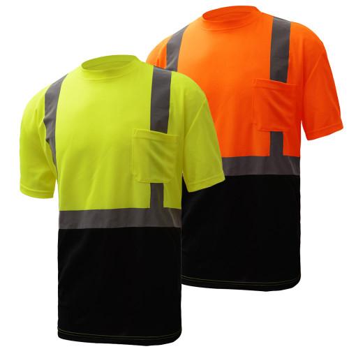 5111/5112 Class 2 Short Sleeve Black Bottom T-Shirt