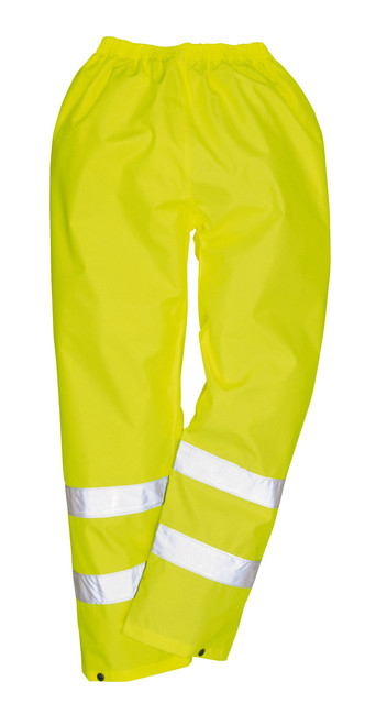 Portwest Hi-Vis Rain Pant: Front View Yellow