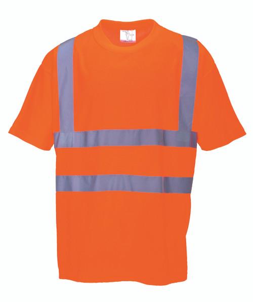 Portwest Hi-Vis T-Shirt - SET OF TWO: Front View