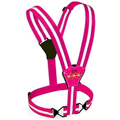 Pink Amphipod Reflective Xinglet Strobe Plus LED Vest
