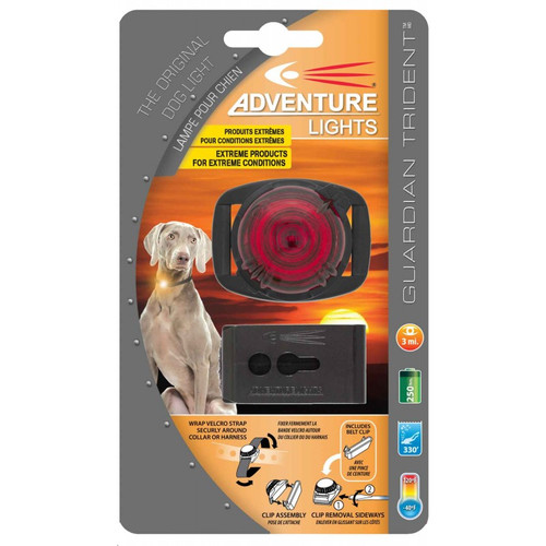 Adventure Lights Guardian Trident Dog Light RED - 45001