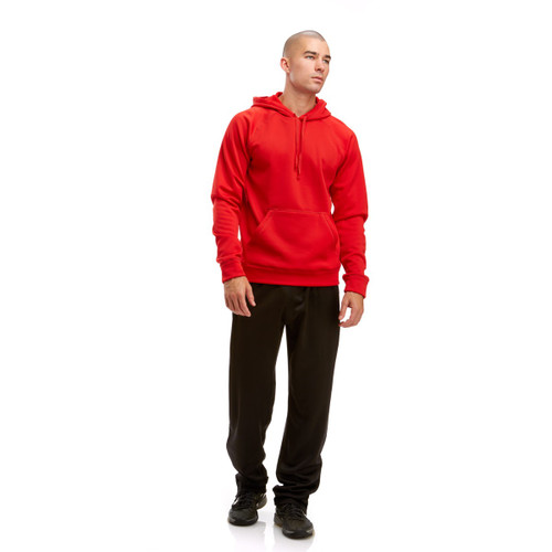 ADULT POLY TECH FLEECE HOOD RED