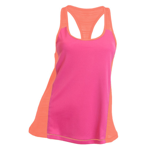 SOFFEE JUNIORS RUN FAST TANK - FUCHSIA/PURPLE LIVING CORAL