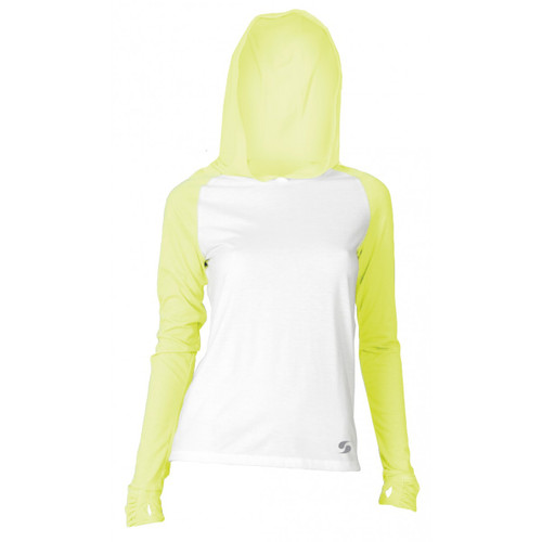 SOFFE JR NO SWEAT COLOR BLOCK HOOD - WHITE/KOOL KIWI