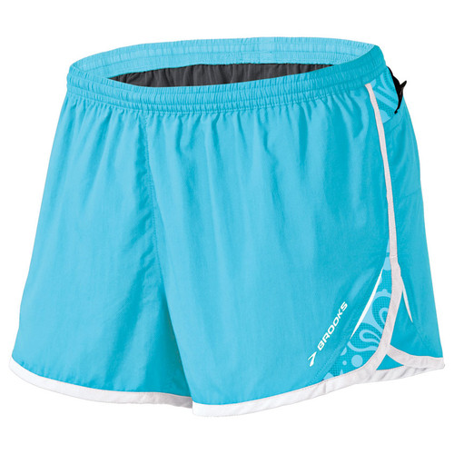 Brooks Running Synergy Short in Aqua