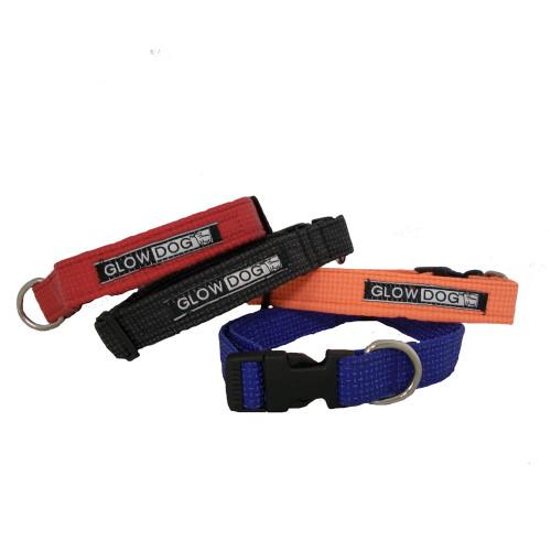 Glow Dog Reflective Fido Snap Lock Collar