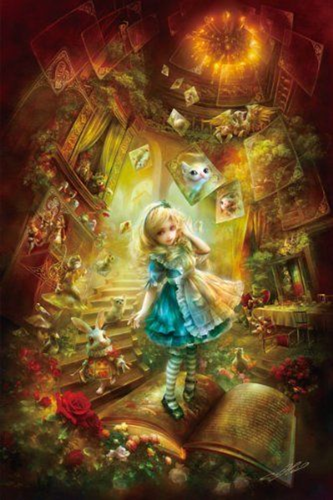 APPLEOne Jigsaw Puzzle 1000-689 Alice In Wonderland (1000 Pieces)