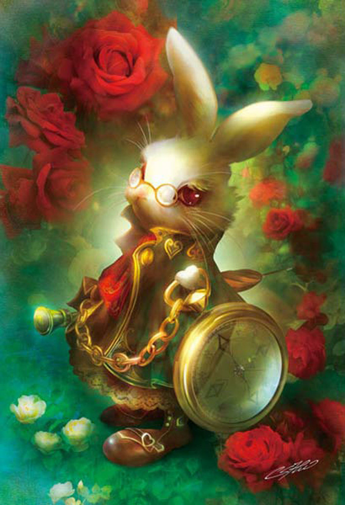 APPLEOne Jigsaw Puzzle 300-318 Alice In Wonderland White Rabbit (300 Pieces)