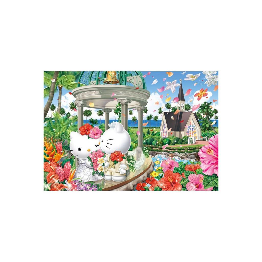 Beverly Jigsaw Puzzle 31-395 Sanrio Hello Kitty Hawaiian Wedding (1000 Pieces)