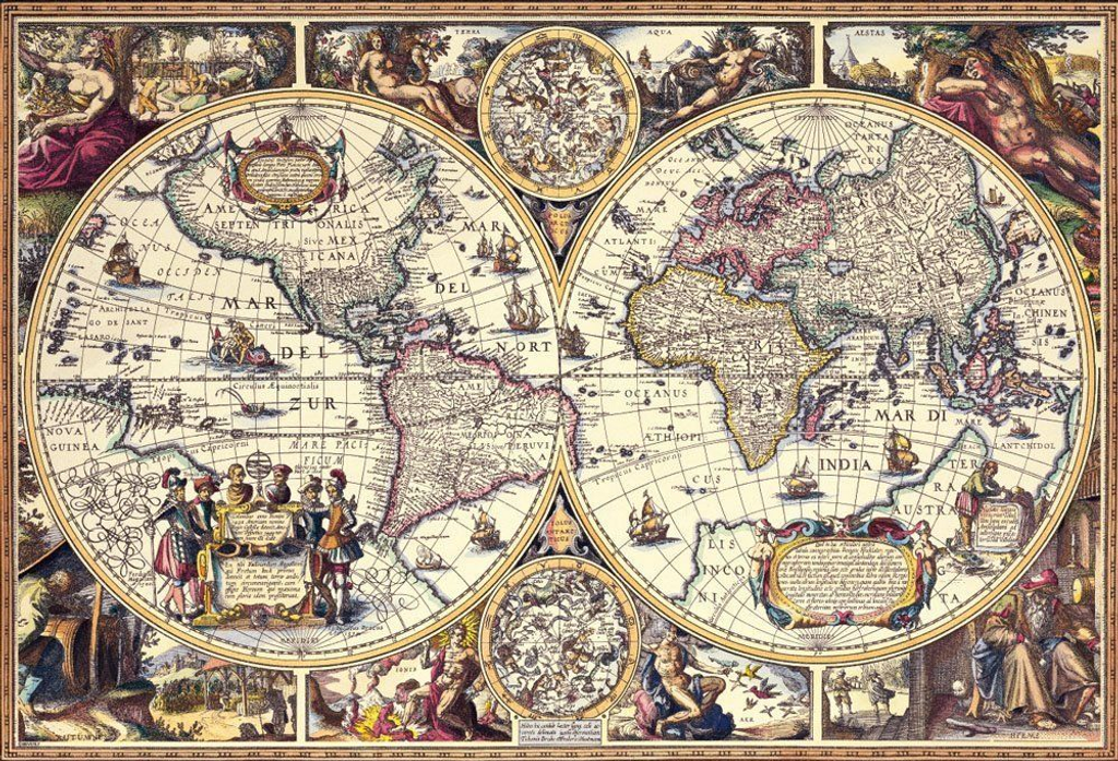 Beverly Jigsaw Puzzle 31-457 Antique Map (1000 Pieces)