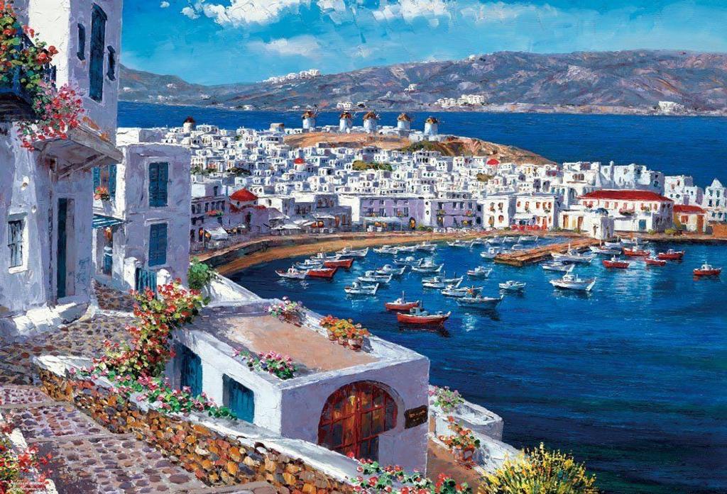 Beverly Jigsaw Puzzle 31-466 Sam Park Mykonos Harbour (1000 Pieces)