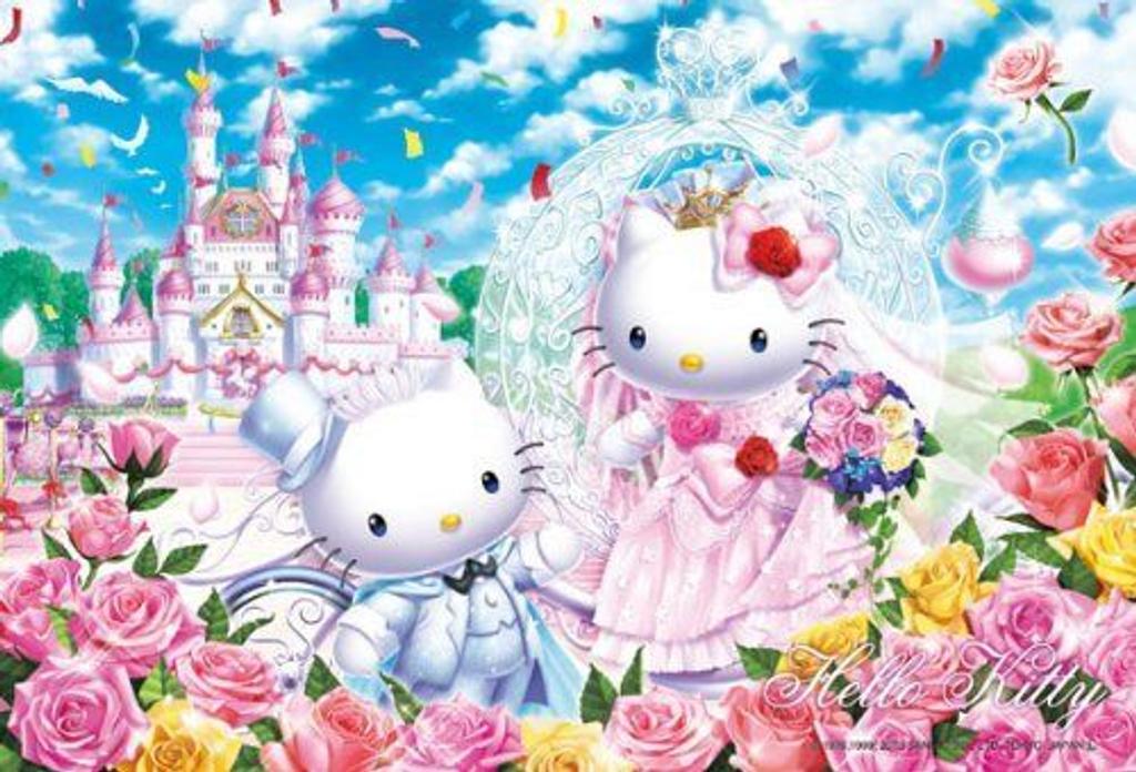 Beverly Jigsaw Puzzle 33-067 Sanrio Hello Kitty Castle Wedding (300 Pieces)