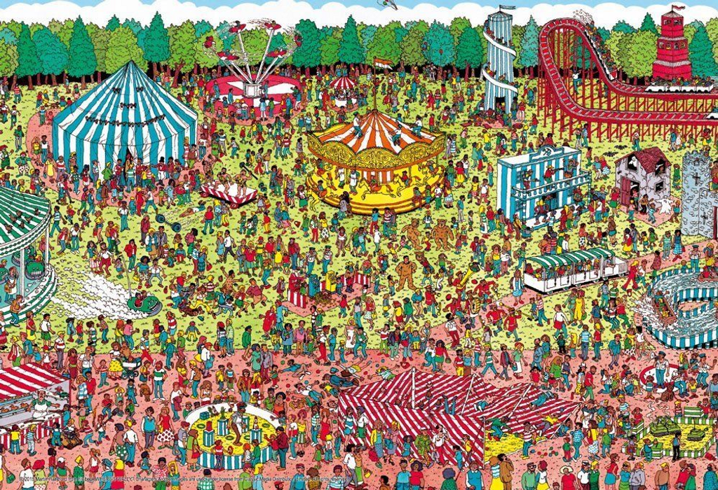 Beverly Jigsaw Puzzle L74-123 Where's Wally? (150 L-Pieces)