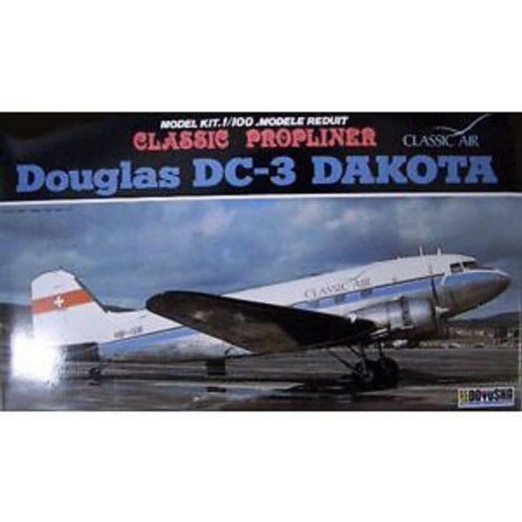 Doyusha 400609 DC-3 Swiss Classic Airline 1/100 Scale Plastic Kit