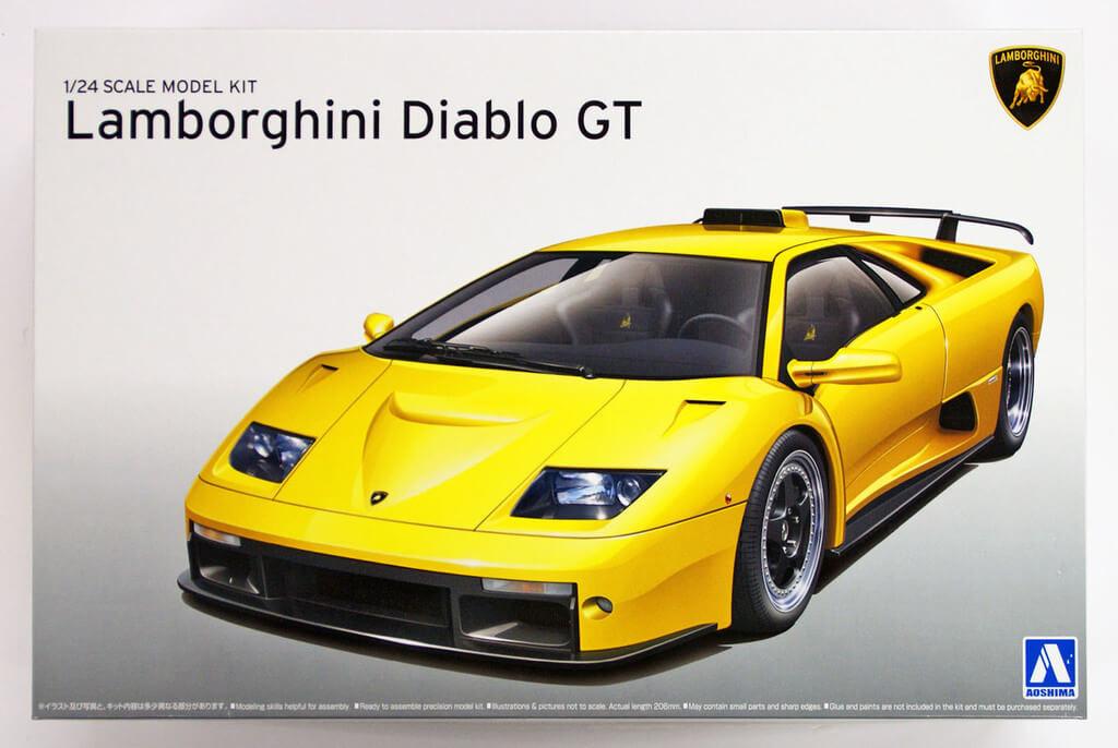 Aoshima 10501 Lamborghini Diablo Gt 1 24 Scale Kit Plaza Japan