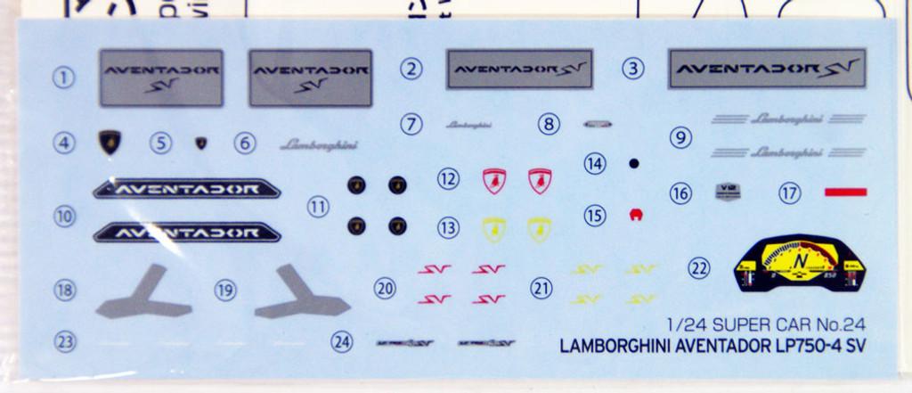 Aoshima 51207 LAMBORGHINI Aventador LP750-4 SV 1/24 scale kit