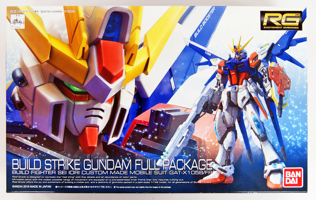 Bandai RG-23 Gundam GAT-X105B/FP Build Strike Gundam Full Package 1/144 Scale Kit