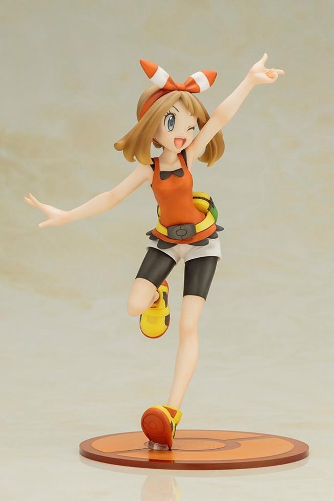 Kotobukiya PP661 ARTFX Pokemon J May (Haruka) with Mudkip (Mizugorou) PVC 1/8 Scale Figure