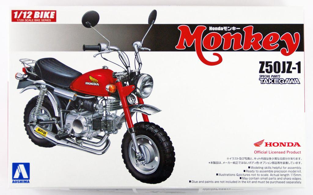 Aoshima Naked Bike 24 Honda MONKEY Custom Takegawa Version2 1/12 Scale Kit