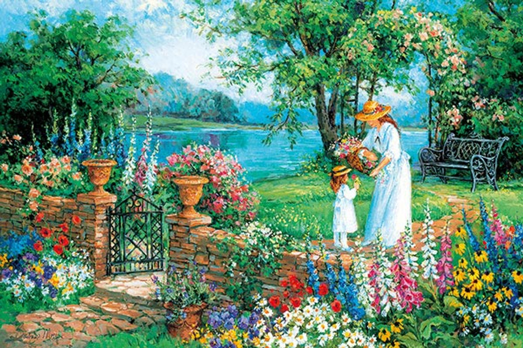 APPLEONE Jigsaw Puzzle 1000-798 Lake Side Morning (1000 Pieces)