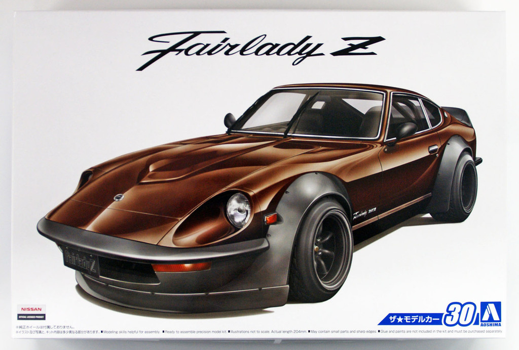 Aoshima 53058 The Model Car 30 NISSAN S30 Fairlady Z Aero Custom '75 1/24 scale kit