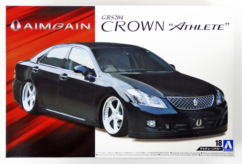 Aoshima 53102 Aimgain GRS204 Crown Athlete '08 (TOYOTA) 1/24 scale kit