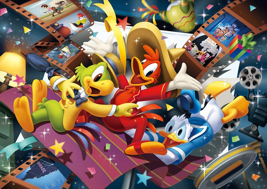 Tenyo Japan Jigsaw Puzzle D-300-281 Disney The Three Caballeros (300 Pieces)