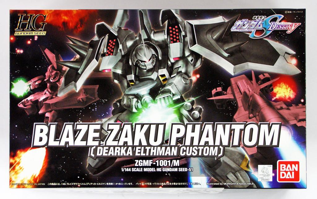 Bandai 506634 HG Gundam Seed Blaze Zaku Phantom (Dearka Elthman Custom) 1/144 scale kit