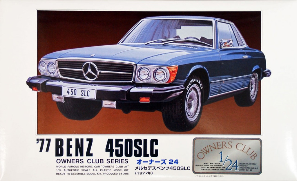 Arii Owners Club 1/24 03 1977 Benz 450SLC 1/24 Scale Kit (Microace)