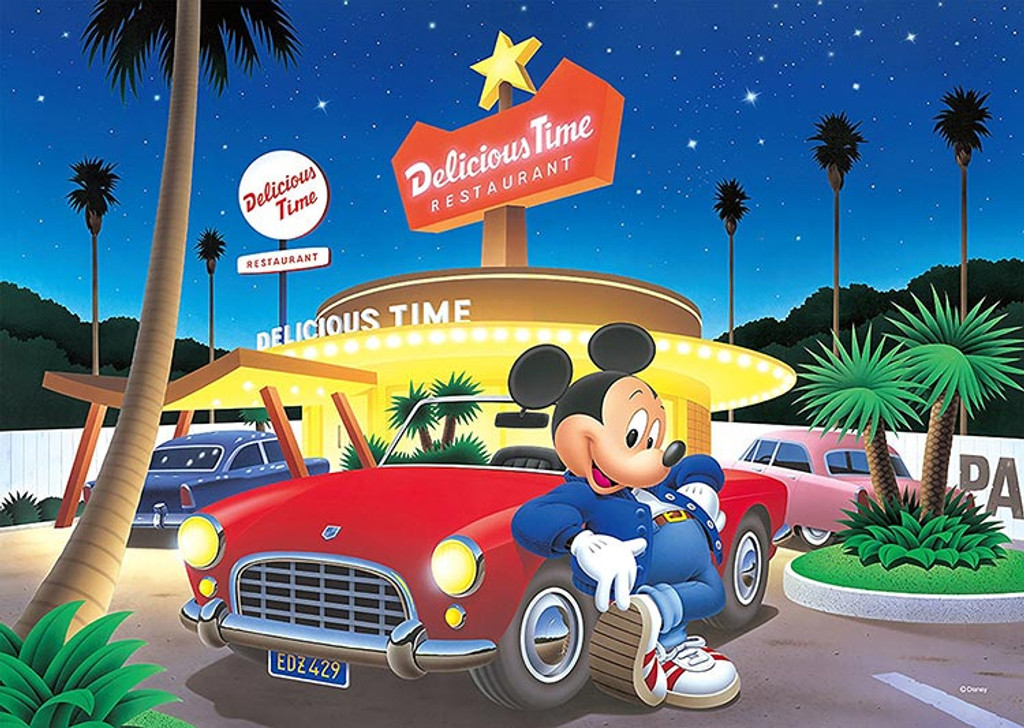 Tenyo Japan Jigsaw Puzzle D-300-287 Disney Starlight City Mickey (300 Pieces)