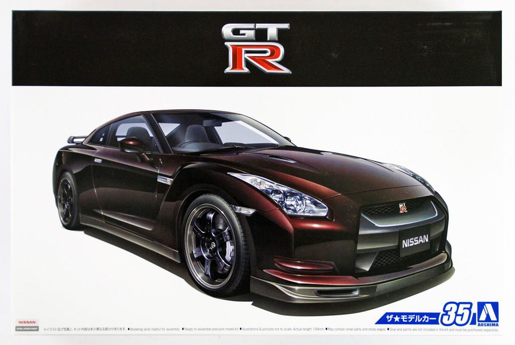 Aoshima 53171 The Model Car 35 Nissan R35 GT-R Spec-V '09 1/24 scale kit