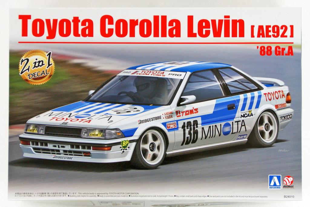 Aoshima 98240 Toyota Corolla Levin (AE92) '88 Gr.A 1/24 scale kit