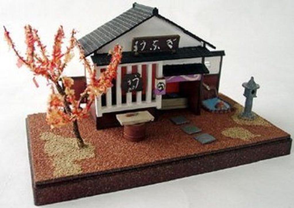 Arii 812099 Japanese Unagi Restaurant 1/60 Scale Kit (Microace)