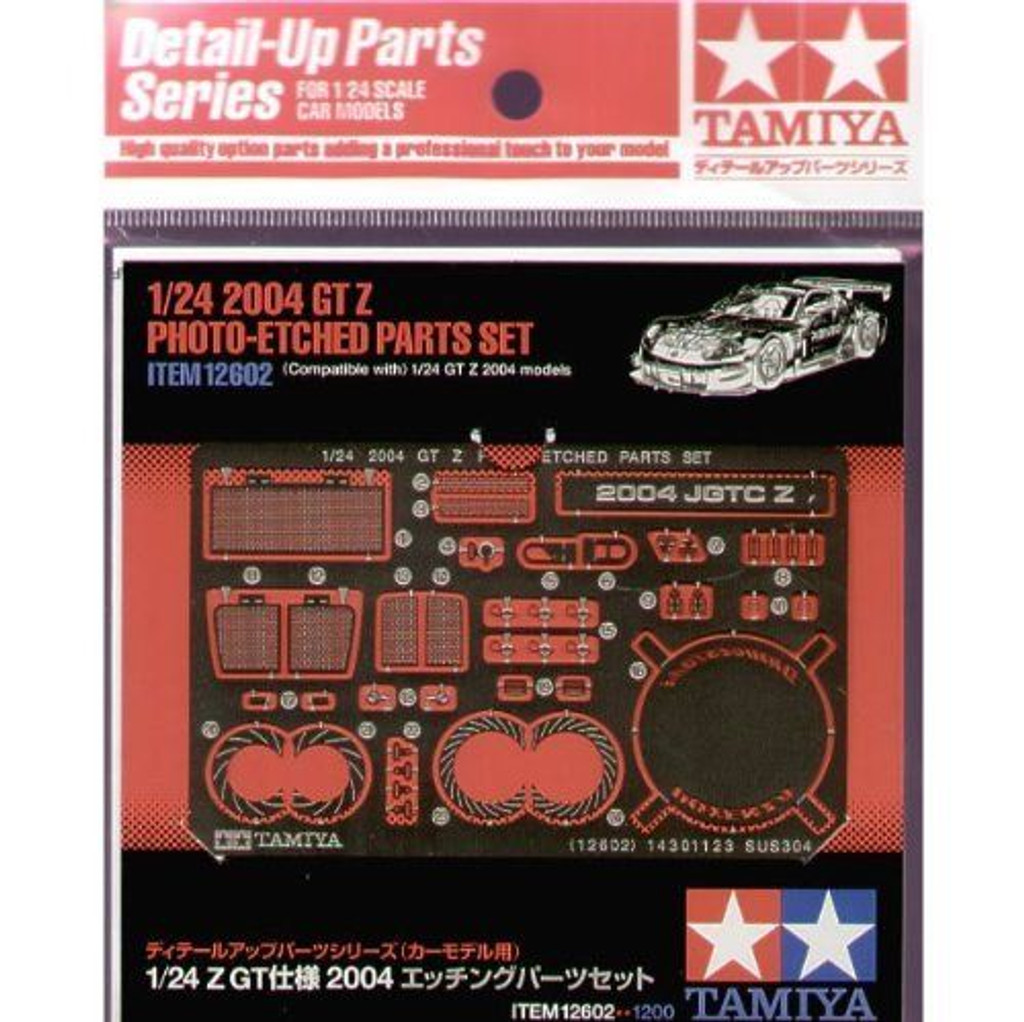 Tamiya 12602 2004 GT Z Photo-Etched Parts Set 1/24 Scale Kit