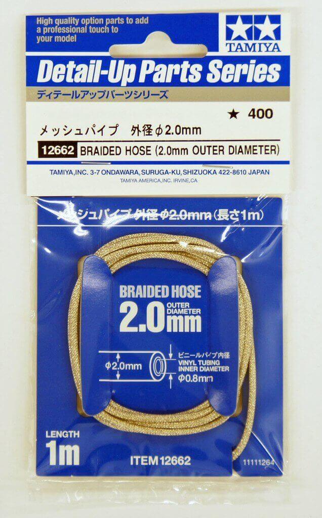 Tamiya 12662 Braided Hose (2.00mm Outer Diameter)