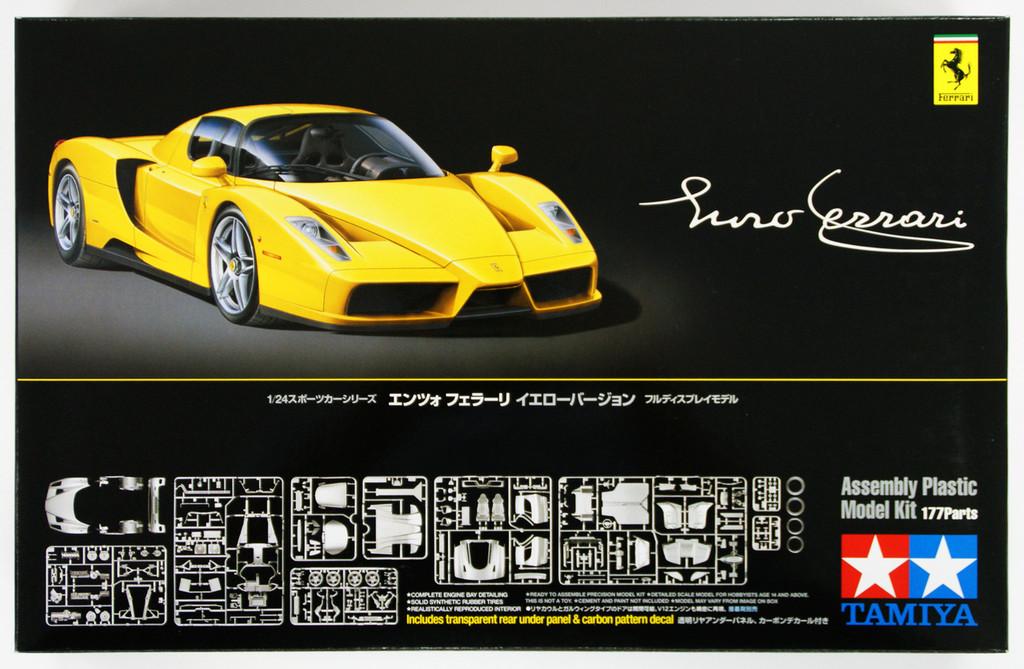 Tamiya 24301 Enzo Ferrari Yellow Version 1/24 Scale Kit
