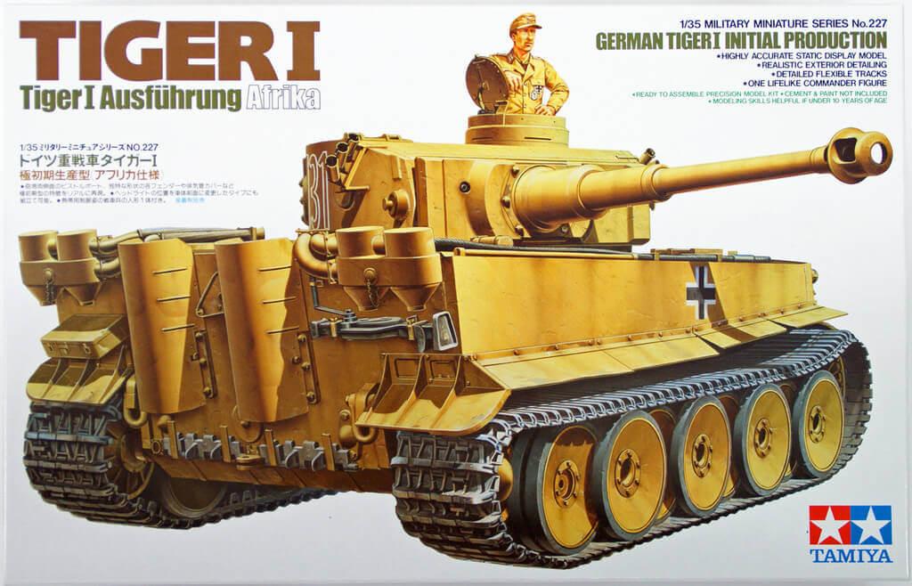 Tamiya 35227 German Tiger I Initial Production Afrika 1/35 Scale Kit