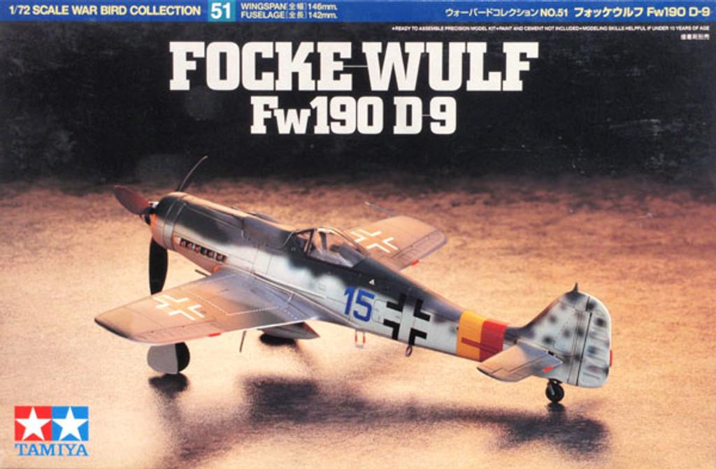 Tamiya 60751 Focke-Wulf Fw190 D-9 1/72 Scale Kit