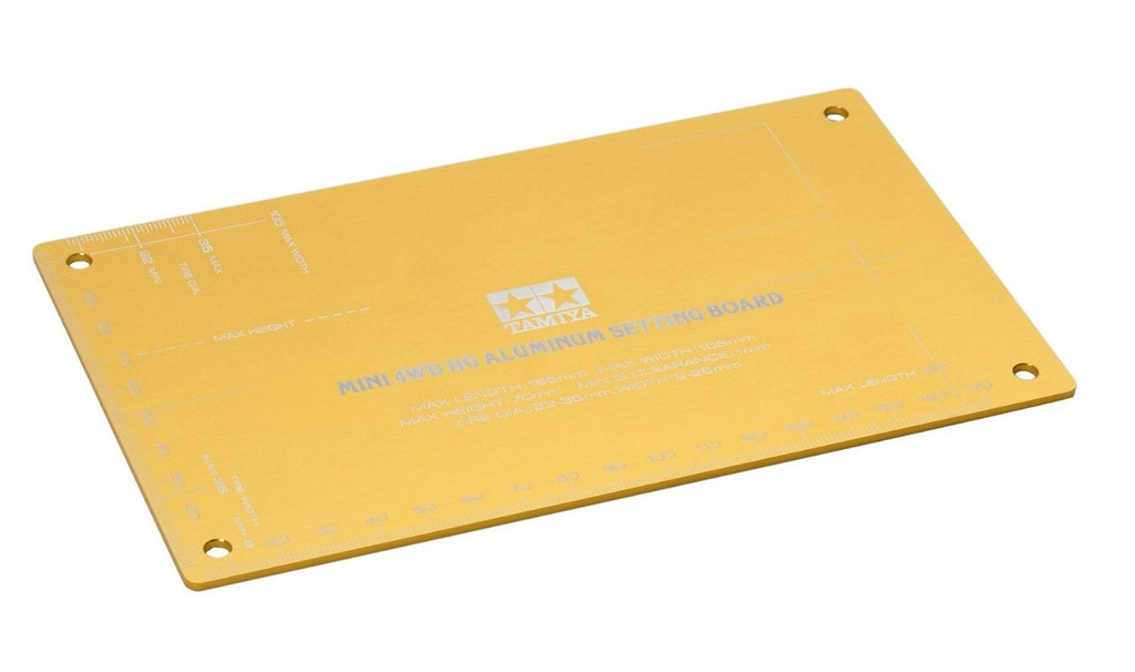 Tamiya 95201 Mini 4WD HG Alumimum Setting Board (Gold)