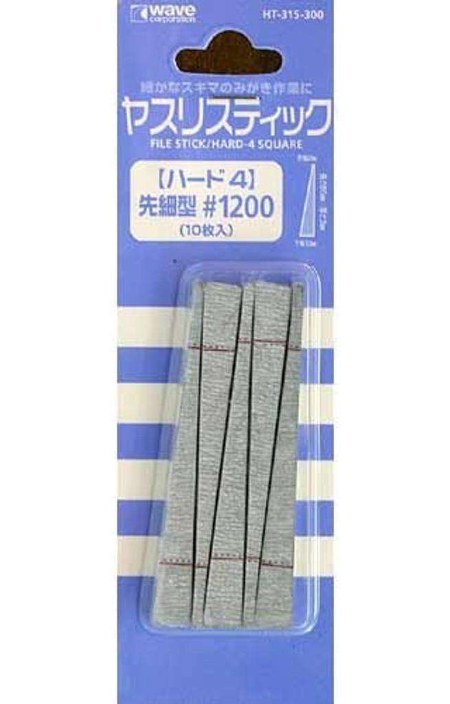Wave Materials HT315 File Stick / Hard 4 Square #1200 (10 pcs)