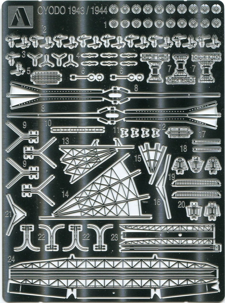 Aoshima 52747 IJN Light Cruiser Oyodo 1943/1944 Photo Etched Parts Set 1/700 scale
