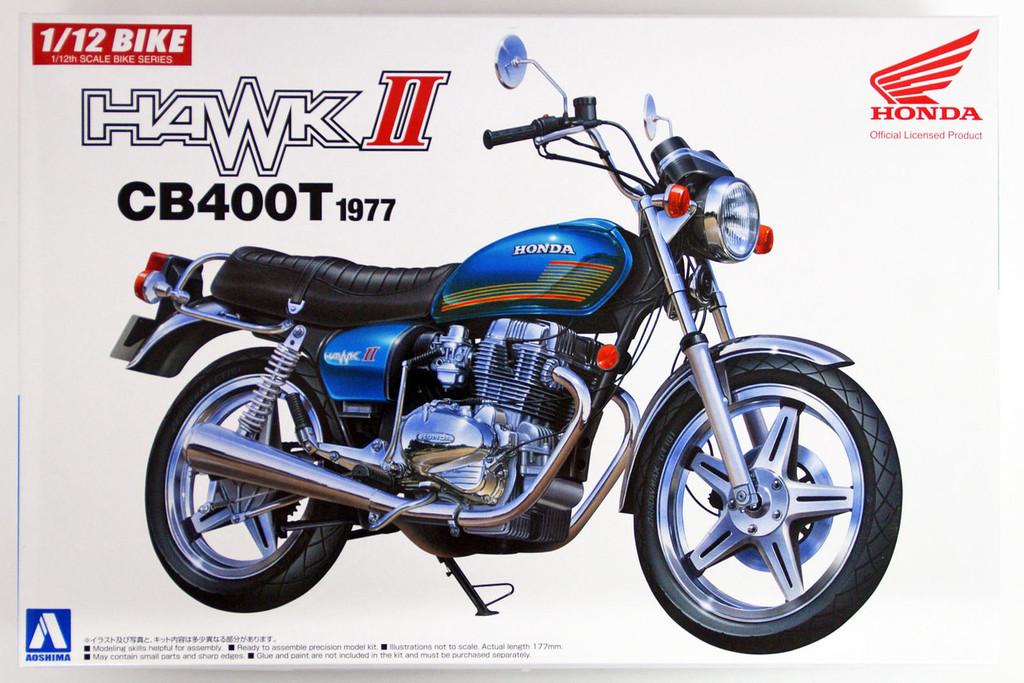 Aoshima Bike 38 Honda Hawk II CB400T 1977 1/12 scale kit