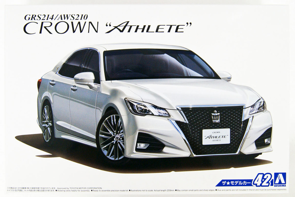 Aoshima 50811 The Model Car 42 Toyota GRS214/AWS210 Crown Athlete 1/24 scale kit