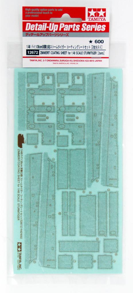 Tamiya 12672 Zimmerit Coating Sheet for German 38cm Sturmtiger 1/48 (2 Sets)
